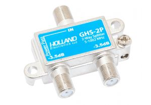 2-Way Coax Splitter - 5 to 1002 MHz - 1 Port Power Passing