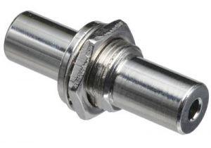 3.5mm Stereo Female to 3.5mm Stereo Female Bulkhead Adapter   1/2' Hole