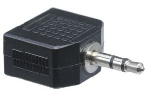 3.5mm Stereo Male to Dual 3.5mm Stereo Female Adapter