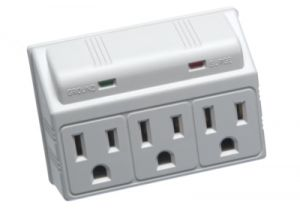 3 Outlet Wall Mount Plug-In Surge Protector