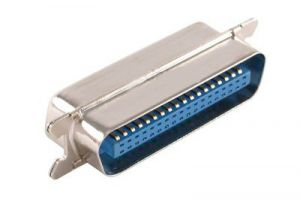 36 Pin Male to Male Centronics Low Profile Gender Changer