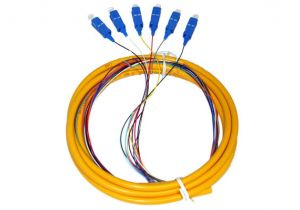 3 Meter SC-UPC Fiber Optic Pigtail - 6 Strand Single Mode 9/125