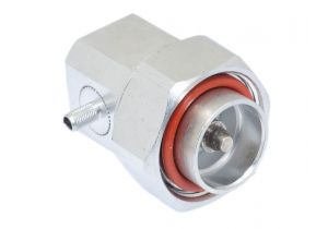 7/16 DIN Right Angle Male Crimp Connector - RG58 & LMR-195