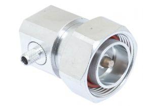 7/16 DIN Right Angle Male Crimp Connector - Micro 8/U (RG8X) & LMR-240