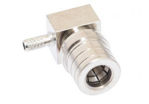 QMA Right Angle Male Crimp Connector - RG174 & LMR-100