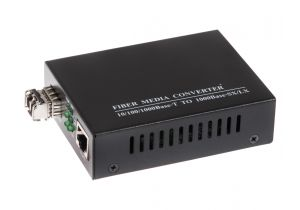 ECore - 1000 Mbps Gigabit Multimode Fiber Optic Ethernet Media Converter - LC - 550 M