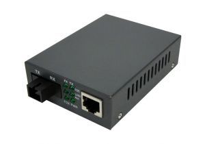 Singlemode WDM Media Converter - 10/100 Base-TX 1550nm to 100 Base-FX - RJ45 to SC - 20 Km