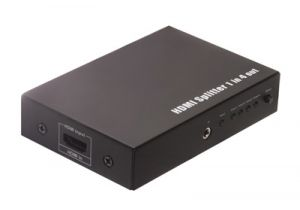 4-Way HDMI Splitter 3D Ready with IR Extension (1-in/4-out)