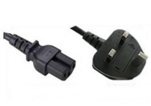 BS 1363 to C15 International Power Cord - 10 Amp - 2.5 M