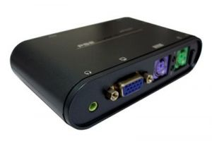 2-Way KVM PS/2 with four 2 Meter KVM Cables Included