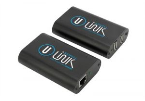 Dual USB 2.0 over Cat5 Extender Balun - 480 Mbps - 200 Ft