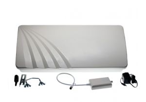 Flat Panel Outdoor HDTV Antenna - VHF/UHF/FM - 40dB