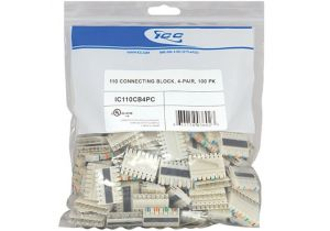 4 Pair 110 Connecting Block - 100 Pack