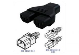 C14 to Dual C13 Power Adapter