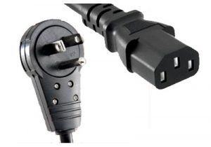CPU Power Cord - NEMA 5-15P Rotating Right Angle to C13 - 10 Amp