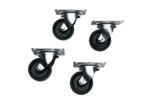 Commercial Grade Casters for Slim 5 and ERK Racks - Set of 4 (Non-Locking)