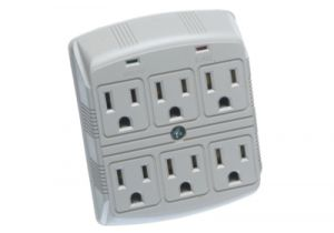 6 Outlet Wall-Mount Plug-In Surge Protector