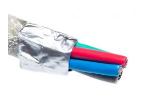 5 Conductor Mini Coax Cable - Beige - Per FT