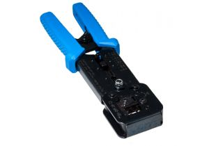 Ratchet Modular Crimping Tool for EZ RJ11, RJ12, and RJ45 | Platinum Tools EZ-RJPRO