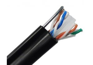 Cat6 Solid Aerial Cable with Messenger