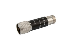 L-com 2W/6dB RF Fixed Attenuator - N Male to N Female - Brass Nickel - 3 GHz