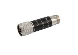 L-com 2W/2dB RF Fixed Attenuator - N Male to N Female - Brass Nickel - 6 GHz