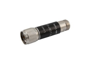 L-com 2W/3dB RF Fixed Attenuator - N Male to N Female - Brass Nickel - 6 GHz