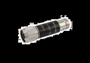 L-com 2W/4dB RF Fixed Attenuator - N Male to N Female - Brass Nickel - 6 GHz