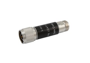 L-com 2W/9dB RF Fixed Attenuator - N Male to N Female - Brass Nickel - 6 GHz