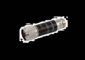 L-com 2W/20dB RF Fixed Attenuator - N Male to N Female - Brass Nickel - 6 GHz