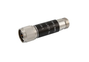 L-com 2W/30dB RF Fixed Attenuator - N Male to N Female - Brass Nickel - 6 GHz