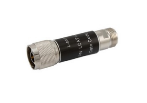L-com 2W/1dB RF Fixed Attenuator - N Male to N Female - Brass Nickel - 3 GHz