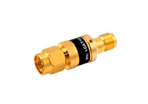 L-com 2W/5dB RF Fixed Attenuator - SMA Male to SMA Female - Gold - 3 GHz