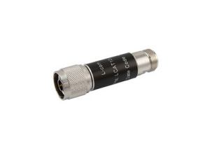 L-com 2W/20dB RF Fixed Attenuator - N Male to N Female - Brass Nickel - 3 GHz