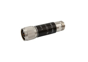 L-com 2W/30dB RF Fixed Attenuator - N Male to N Female - Brass Nickel - 3 GHz