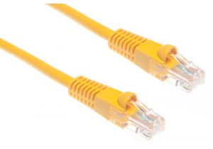 Cat5e Crossover Patch Cable - Yellow – 1 FT