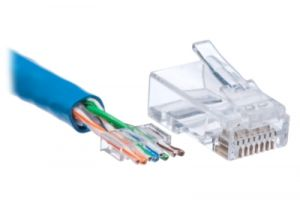 RJ45 Cat6 Connector with Guide - 8P8C - Solid & Stranded Cable - 10 Pack