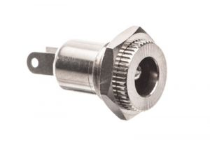 DC Power Female Chassis Mount Connector - 3.0mm I.D. - 6.3mm O.D.