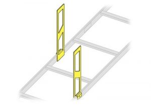 Middle Atlantic Ladder Side Stand-Off, 12 Inch Height, 2 pc.