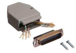 DB25 Male to Dual RJ45 Female Modular Adapter Kit - 16 Conductor (2x8)