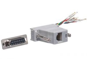 DB15 Female to RJ45 Female Modular Adapter Kit - 8 Conductor