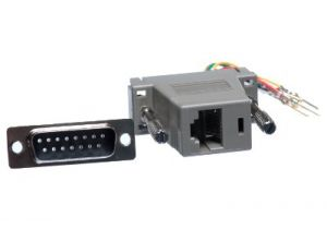 DB15 Male to RJ45 Female Modular Adapter Kit - 8 Conductor