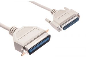 DB25 Male to C36 Male Parallel Printer Serial Cable - 100 FT