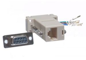 DB9 Female to RJ45 Female Modular Adapter Kit - 8 Conductor