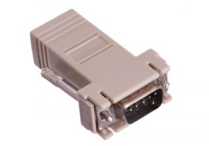 DB9 Male to RJ12 Female Modular Adapter Kit - 6 Conductor