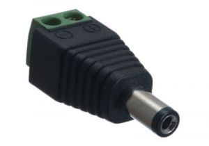 DC Power Male Field Terminated Connector - 2.1mm I.D. - 5.5mm O.D.