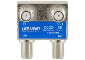 Holland Dual Port Coax Tap - 5 to 1000 MHz - 9dB
