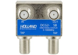 Holland Dual Port Coax Tap - 5 to 1000 MHz - 27dB