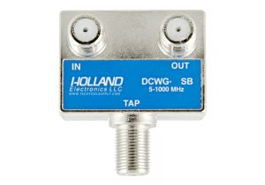 Holland Wall Plate Coax Tap - 5 to 1000 MHz