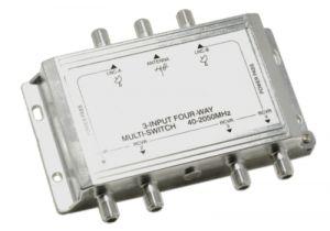 3x4 Satellite TV Multiswitch | 40-2150MHz